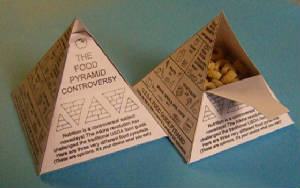 3D Food Pyramid Craft
